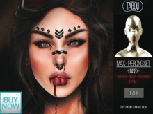 TABOU.Max Piercing Set -BLACK-