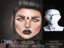 TABOU.Hana forehead piercing- black