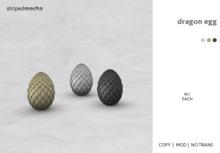 striped mocha - dragon egg