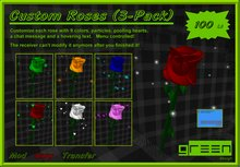 ●GD● Customizable Roses 3-Pack [Poofer, Chat, Hover] Valentines Gift