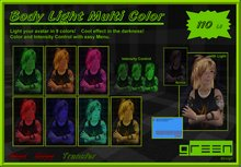 ●GD● Body Light Multi Color [9 Colors, Menu Control] Bodylight