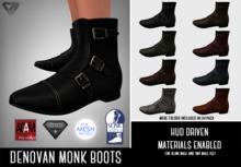 ILLI - [SLink,MeshProject Men,Adam] Denovan Monk Boots (HUD Driven) - PROMO