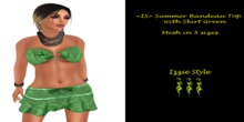 <IS> Summer Bandeau Top with Skirt Green