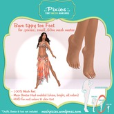 .:pixies:. Alexis small .50m tippy toes mesh feet