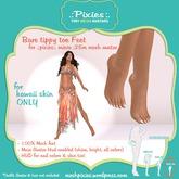 .:pixies:. Alexis micro .25m KAWAII tippy toes mesh feet