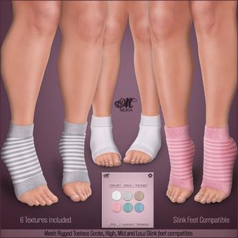 *MUKA* Toeless Socks Light