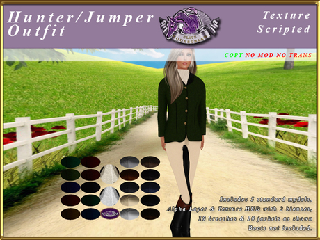 *E* Ladies hunter/Jumper Outfit [BOXED] Texture Scripted