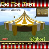 Big Top Tent 80x80 - Yellow & White - COPY - Circus Tents
