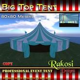 Big Top Tent 80x80 - Aqua & White - COPY - Xntra City Circus Tents