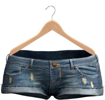 Blueberry - Tazz Shorts - Maitreya/Belleza/Slink - Cold Blue