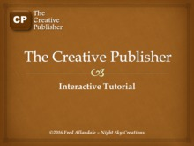 The Creative Publisher Tutorial