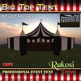 Big Top Tent 80x80 -  Black & White - COPY - Circus Tents