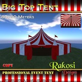 Big Top Tent - 80x80 - Red & White - COPY - Circus Tents