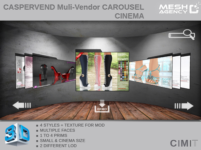 ::MA:: Caspervend VENDOR CAROUSEL CINEMA SYSTEM