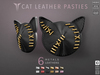 **RE** Cat Leather Pasties * MESH * (**LUX** Collection)