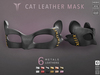 **RE** Cat Leather Mask * MESH * (**LUX** Collection)