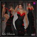::DBL:: La Senora Gown & Hair Flower ~ Spanish Rose includes OMEGA APPLIERS
