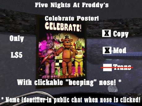 (FNAF) Five Nights At Freddy's Celebrate Poster