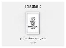 carasmatic. girl standards wall print