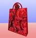 Gift Bag (red roses) with gift bow - wrap your gift with a quality gift box