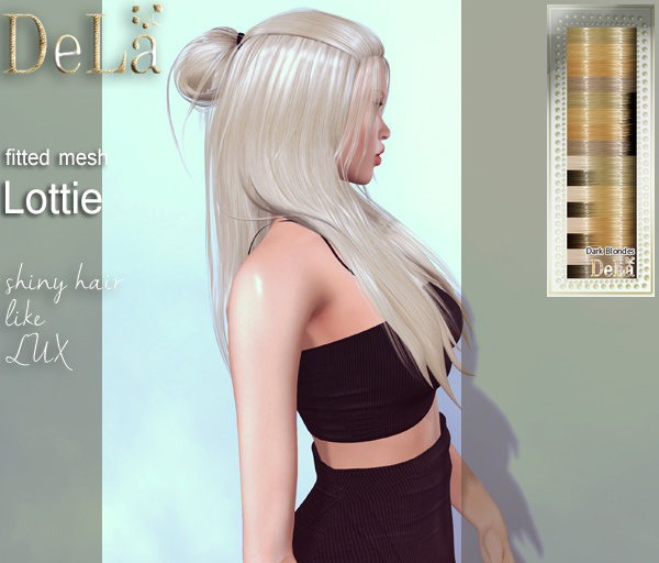 "=DeLa*= Mesh Hair ""Lottie"" Dark Blondes"