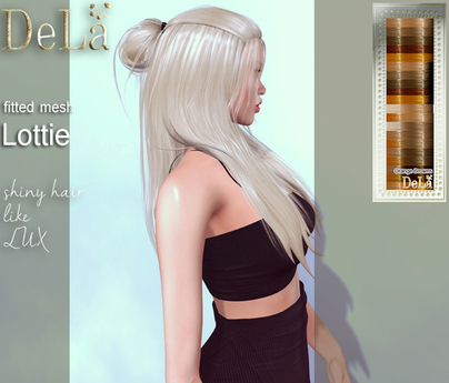 "=DeLa*= Mesh Hair ""Lottie"" Orange Browns"