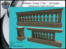 Icaland - Fence 2 Set + AO maps