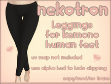 [Nekotron] Kemono Leggings (Human feet)