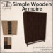 [DDD] Simple Wooden Armoire