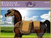 *E* Hollywood Arabian Saddle Set [Boxed] RHAB Gold