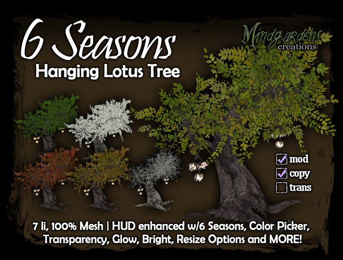 MG - 6 Seasons - Hanging Lotus Tree