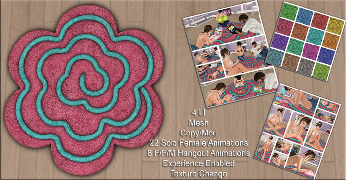 {ACD} Blooming Hangout Rug Sits Only
