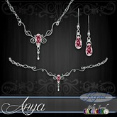 ::: Krystal ::: Anya - Jewelry Set - Platinum - MultiJewel (Simple)