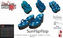 *Chez Lou* Sun Flip Flops Slink, Kitten, Belleza, Maitreya