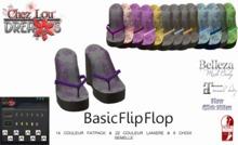 *Chez Lou* Basic Flip Flops Slink, Kitten, Belleza, Maitreya