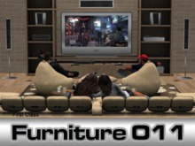 Home Theater Living Room Drama - 147 animations, Sofa - 122 animations for 6 [PG]