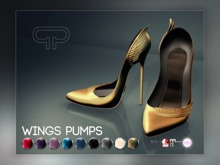 Pure Poison - Wings Pumps - Ad-ons for Ad - ons for Belleza, Maitreya, SLINK High Feet The Mesh Project Ouch