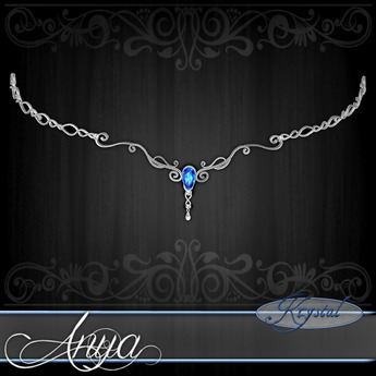 :::Krystal::: Anya - Circlet - Platinum - Heliotrope