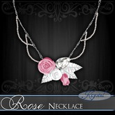 :::Krystal:::  Rose - Necklace - Platinum - Innocence