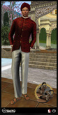 [RnR] Swag Ease Mens Out of India Outfit Jacket [RED-WALL]