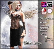 ! Black Swan ! Virtue - dress with applier, gloves, tights