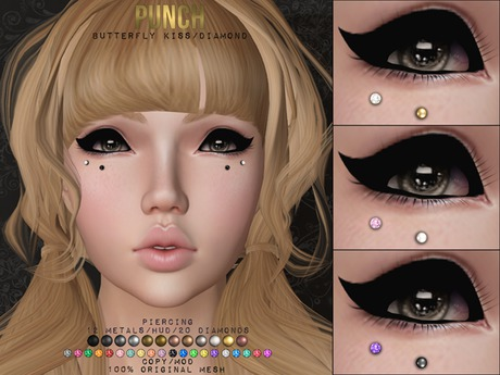 PUNCH / Butterfly Kiss / Diamond ♥ {Mesh}