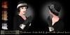 Eclectica 'Buchanan' cloche hat & gloves- ebony
