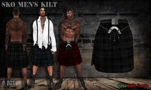 B BOS -Sko Men's Kilt-Black-