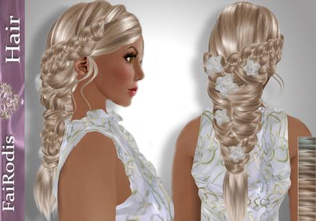 FaiRodis Easter hair light blonde2+DECORATION+Perfume Hair Veil