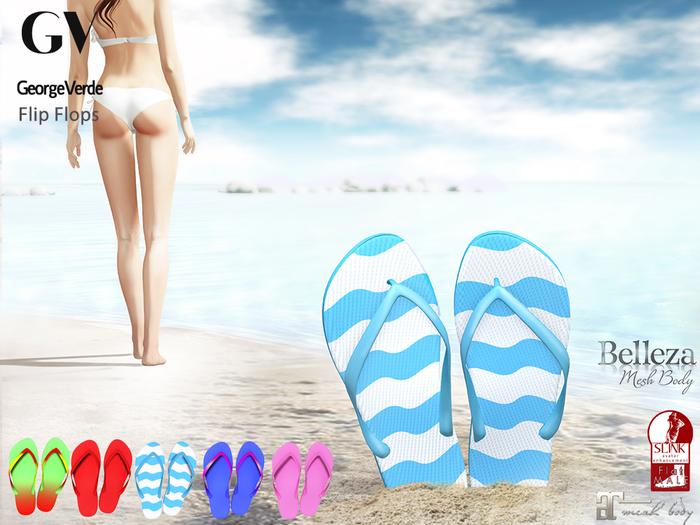 GV Full Perm Female Flip Flops - Slink, Maitreya and Belleza Flat Feet