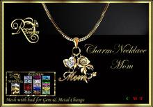 RJ Mesh Charm Necklace - Mom