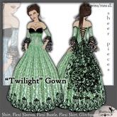 [Wishbox] Twilight Gown - Lime . Medieval Fantasy Dress