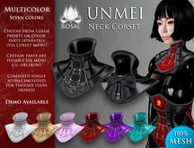 [ROSAL] UNMEI Neck Corset - Multicolor (Mesh)