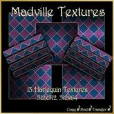 Madville - Harlequin Textures - Purple Blue